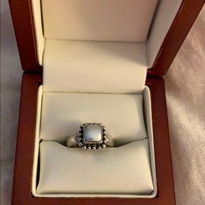 Silpada Bead Frame Freshwater Pearl Ring